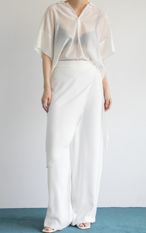 Wide Wrap Pants_Ivory