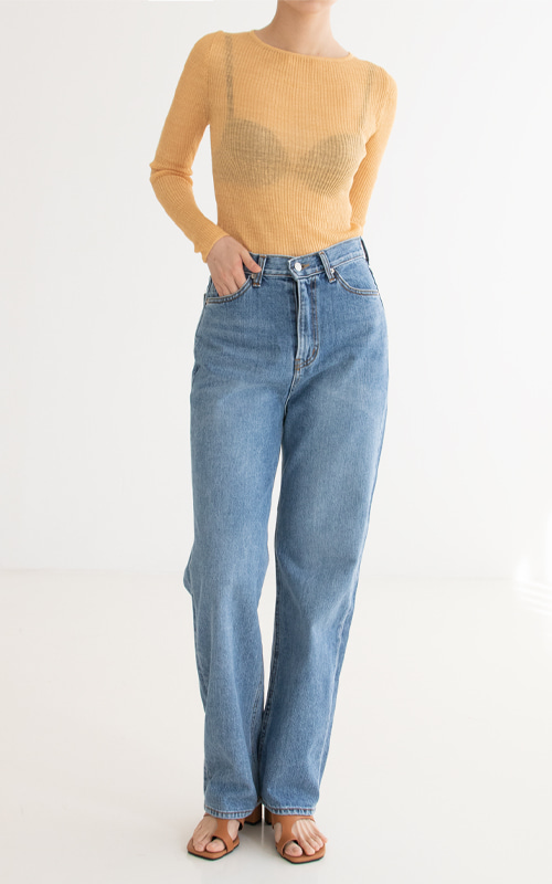 [SPECIAL SALE] Straight Washing Denim_Blue(당일 발송)