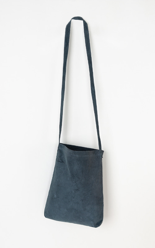 French Suede Bag_Blue