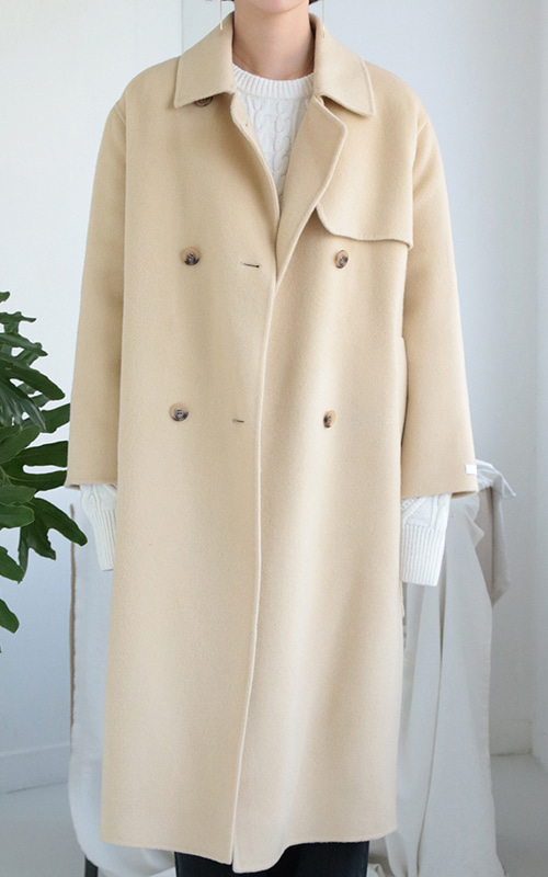 Flap Double Button Coat(Hand Made)_4 Colors