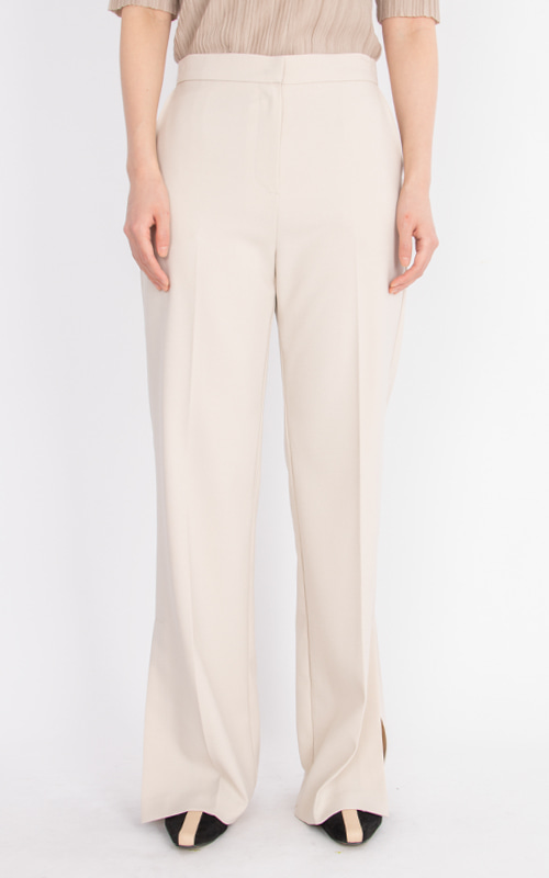 Flow Slit Trousers_Ivory