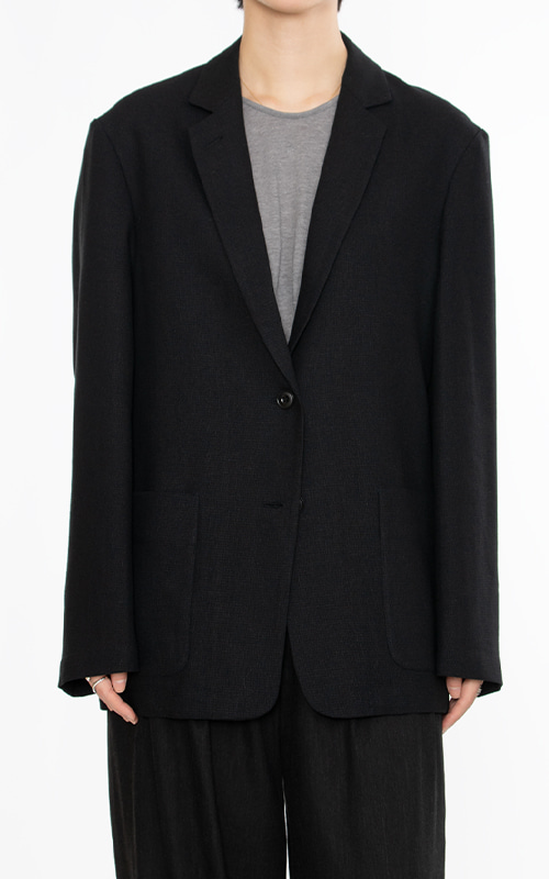 French Linen Jacket_Black