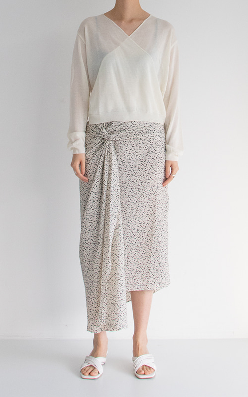 Twist Pattern Skirt_Ivory