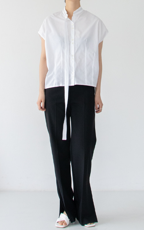 Tie Stitch Blouse_White