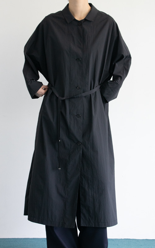 French Coat Dress_Black