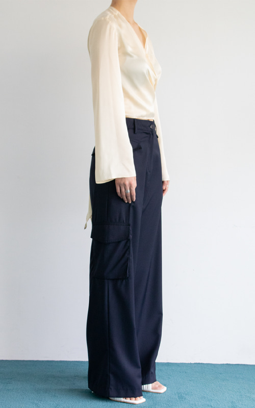 Straight Cargo Trousers_Navy
