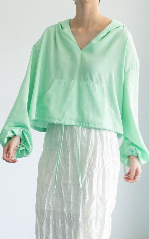 Silky Hood Top_Green