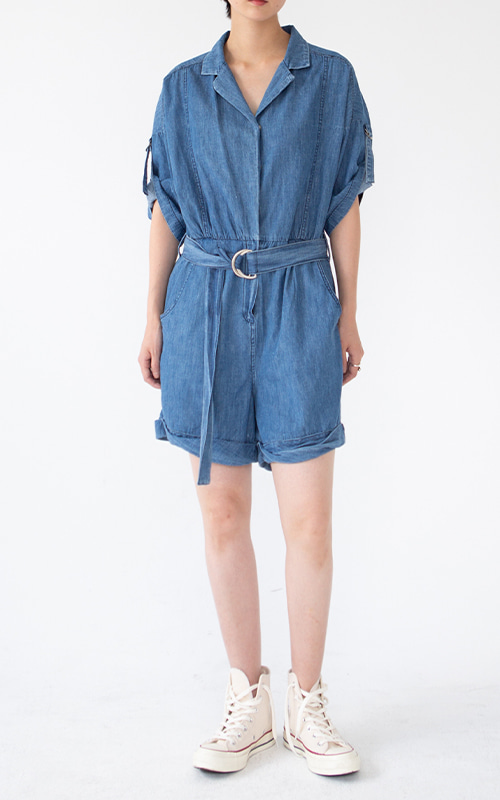 Indigo Shirt Jumpsuit