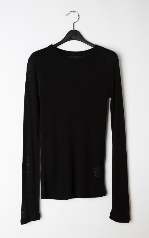Wool See-through T-shirt_Black