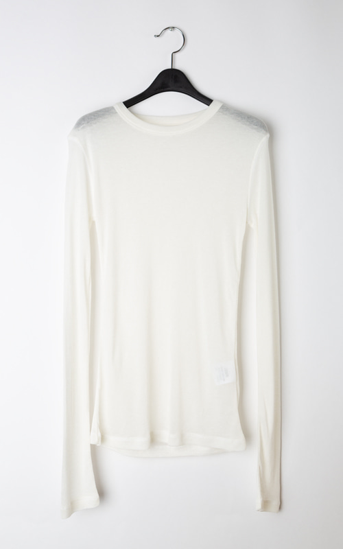 Wool See-through T-shirt_Ivory