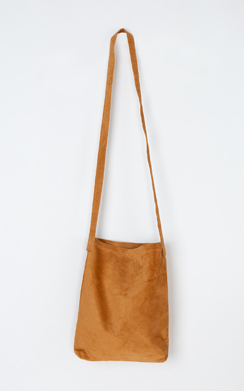 French Suede Bag_Camel