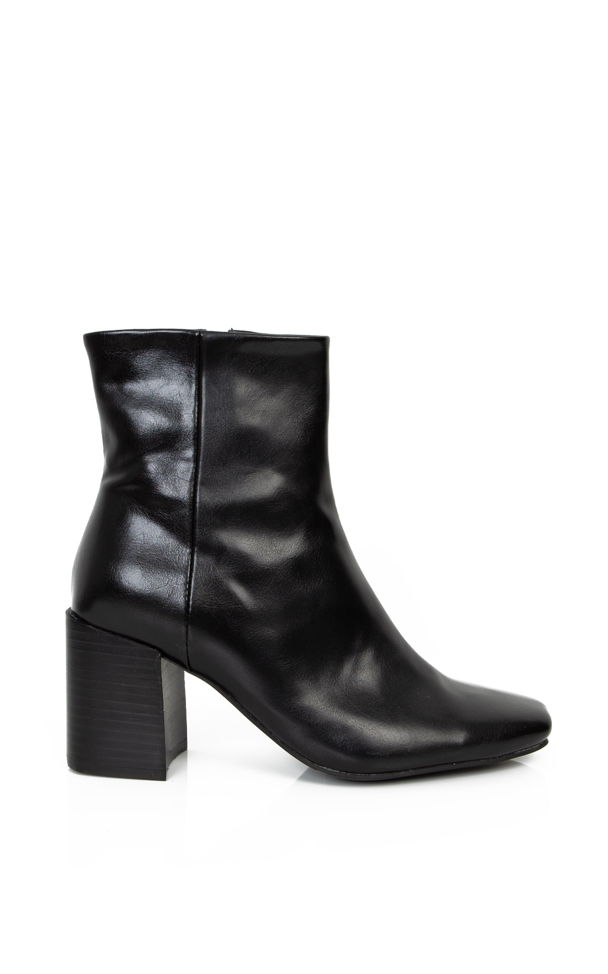 Square-Toe Ankle Boots_Black